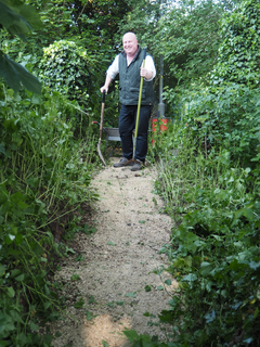 Top Town Path with Cllr Peter Harris